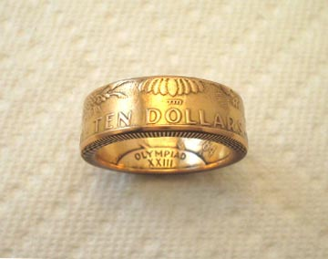 Index Custom Handcrafted Coin Rings Double Sided Coin